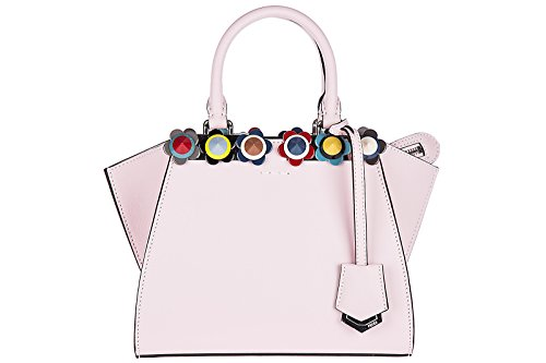 Fendi Leder Handtasche Damen Tasche Bag 3jours mini rosa