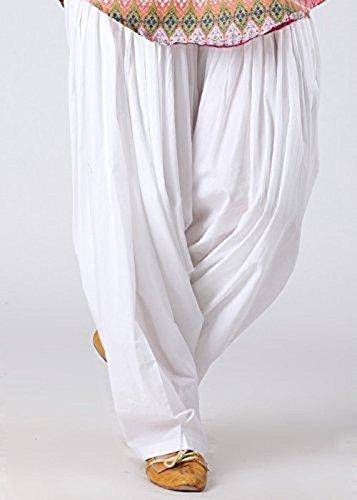 Black macy White Cotton Patiyala