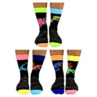 Dinosocks - United Oddsocks - 6 Oddsocks for Men UK, UK 6-11 EUR 39-46 US 7-12, Multicoloured