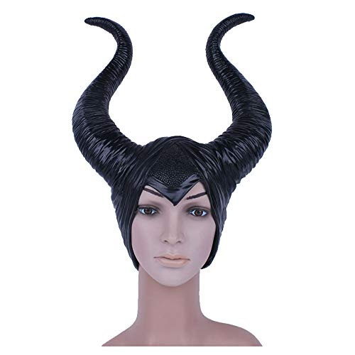 Maske YN Schlafen Dämon Horn Perücke Marin Fussen Hexe Horn Hut Halloween Helm Requisiten