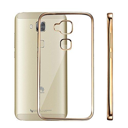 Ambaiyi Ultra Sottile Placcatura TPU Morbido Custodia Trasparente Anti-Scratch Bumper Bling Cover per Huawei G8 / Huawei GX8 , d'oro