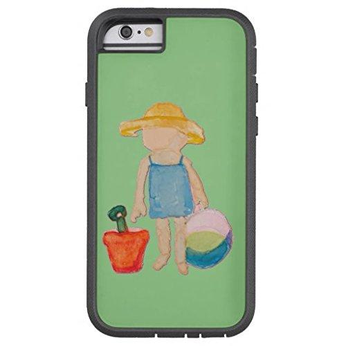 Handy case-baby Mädchen Kleinkinder auf Sommer Strand Geburtstag mint Tough Xtreme iPhone Fall, Telefon Fall, iPhone 6Plus ()