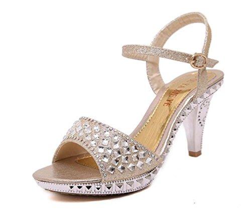 Chaussures De Mariage Mariage De 8 Cm Talon Foncé 4 Cm Ouverture Plateforme fb9196
