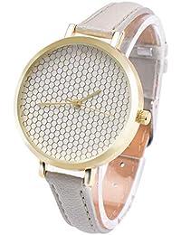 Zxzays Relojes Moda para Mujer Flamingo Correa de Cuero Impresa Analógico Reloj de Pulsera de Cuarzo