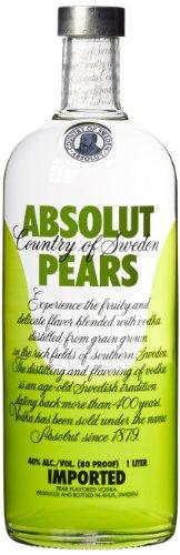 Absolut Pears - Absolut Vodka mit Birnen Geschmack - Absolute Reinheit und einzigartiger Geschmack in ikonischer Apothekerflasche - 1 x 1 L