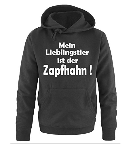 Mein LIEBLINGSTIER ist der ZAPFHAHN! - Herren Hoodie Schwarz / Weiss