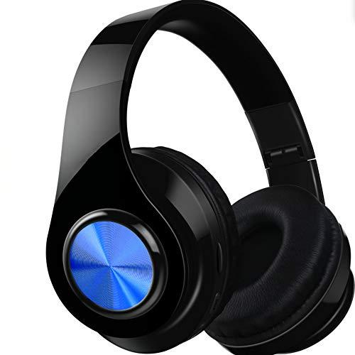 MARXIAO Headset Kabelloses Bluetooth-Headset 4.1, tragbarer Faltbarer FM-Subwoofer Intelligente Kopfhörer mit Geräuschunterdrückung, geeignet für Sportreisen im Freien,Blau