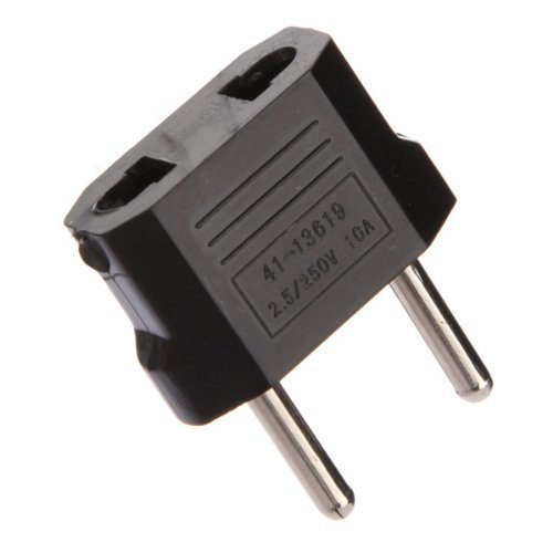 2x U.S. to EU Travel Adapter Plug