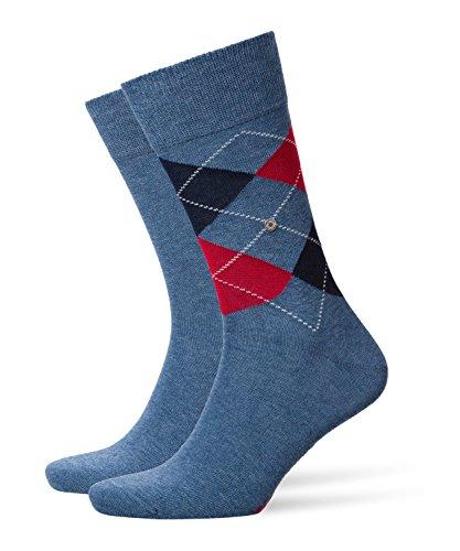 Burlington Herren E.Day Mix SO 2P Socken, Blickdicht, Light Denim, 40-46 (2er Pack) -