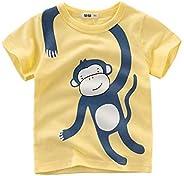 Houfung 2-9 T Camisetas para niño impreso dinosaurios y camión manga corta algodón verano camisetas para niños