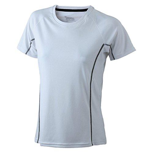 JAMES & NICHOLSON Sportshirt mit reflektierenden Details White/Black