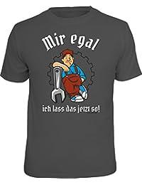 Original RAHMENLOS® T-Shirt für den entspannten Handwerker: mir egal ich lass jetzt so!