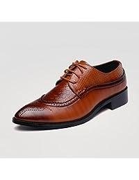 GLSHI Hommes Chaussures En Cuir Printemps Été Confort Sandales Chaussures Randonnée Slip On Pour Athlétique Décontracté Extérieure Noir Brun (Couleur : B, Taille : 39)