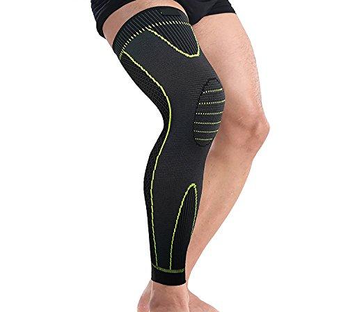 WSNH888 Sport Leggings Schutzausrüstung Stricken Druck Knieschützer Outdoor Reiten Basketball Schutz Lange Beine Lange Einzel Knie Unterstützung Klammer (Vielseitige Stricken Leggings)