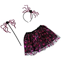 party Costume Halloween Bambina ARACNIDE Principessa dei Ragni Kit  Travestimento Halloween Carnevale Bambini Gonna Cerchietto Bacchetta bab080a641a4