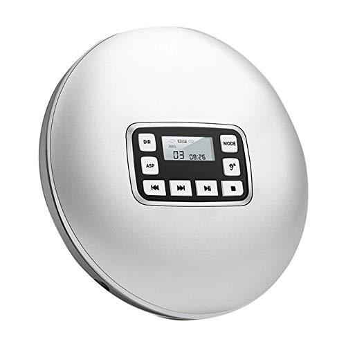 Compt disc kopfhörer jk musik cd player tragbar mit elektronischen überspringen stoßfest runde elektrische schutz hifi oustic High Quality (Farbe : Weiß) (Cd 100 Disc Home Player)