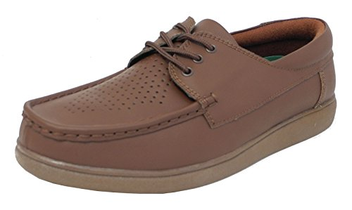 mens-womens-flat-sole-lace-up-lawn-indoor-bowls-shoes-bowling-tan-brown-8