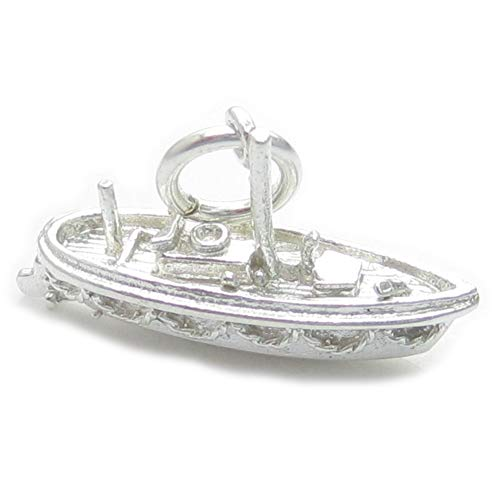 Lifeboat Sterling Silber Charm .925 x 1 Leben Boot Rettungsboote Charms ec249