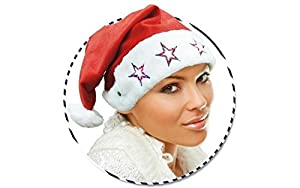 GUIRMA Sombrero de Santa Claus con Campana luz Luces Que Destellan