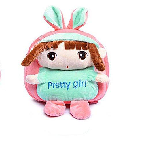 eslifes Cute Pretty Girls Plüsch Cartoon Kinder Tasche Schoolbags Outdoor Rucksack Kinder Day 's Geschenk Rosa - rose