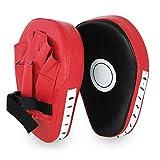 LYTIVAGEN 1 Paar Handpratzen Kampfsport PU Boxen Pads Rotschwarze Kickboxen Boxen Pratzen für Kinder und Erwachsene zum Sanda, Taekwondo, Muay Thai