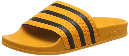 adidas Adilette, Herren Pantoffeln, Orange (Real Gold S18/core Black/real Gold S18), 37 EU (4 UK)