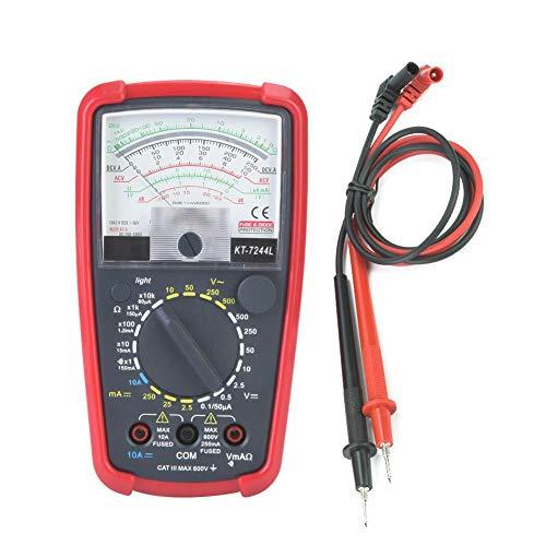 KT7244L Multifunktions-High-Sensitivity-Präzisions-Hand-Analog-Multimeter mit Schutzgehäuse, Batterie
