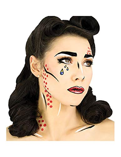 wasseraktiviert, professionelles Halloween-Kostüm-Make-up Halloween Standard Pop Art ()