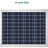 Loom Solar 40 Watt - 12 Volt Solar Panel for Home Lighting & Small Battery Charging