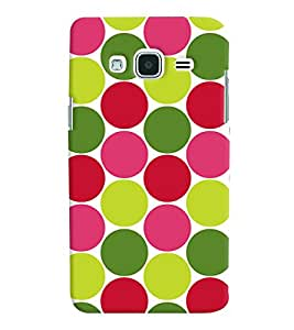 Printvisa Multicoloured Circular Pattern Back Case Cover for Samsung Galaxy J2 (2016)