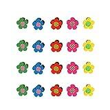 STOBOK 20 Stücke Dekorative Reißnägel Push Pins, Reißzwecke Pflaumenblüten-förmige Pins für Corkboard Photo Wall
