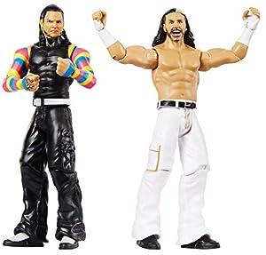 WWE - Pack de 2 figuras de acción luchadores The Hardy Boy Juguetes niños +6 años (Mattel GBN59)