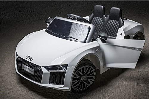 Toyas Audi R8 Spyder XL Ausführung Kinder Elektro Auto Sportwagen Cabriot Kinderfahrzeug 12V Weiß