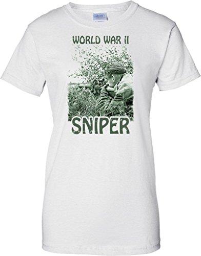 World War II Sniper - Silent Killers - Ladies T Shirt - White - 10