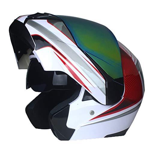 Uomini all'aperto flip up modulare casco di motocross protezione UV anti nebbia donne Off Road colorato casco protettivo doppia lente Racing tappi di protezione 23 colori opzio