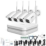 Die besten DIY Security Systems - ANNKE 8CH HD 1080P Funk Überwachungskamera System Wireless Bewertungen