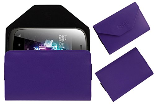 Acm Premium Pouch Case For Micromax A52 Flip Flap Cover Holder Purple  available at amazon for Rs.329