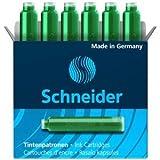 Schneider 10 x Tintenpatrone VE=6 Stück grün