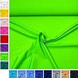 MAGAM-Stoffe ''Alison'' in 16 Farben | Jersey Uni | sehr hochwertiger Stretch-Stoff für Sport- und Bademoden | Meterware ab 50cm | QX-9 (07. Neon-Hellgrün)
