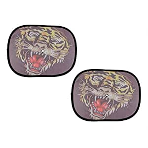 ED Hardy AutoTrends Car Side Window Stick On Sunshades Tiger Set Of 2 For Tata Ace