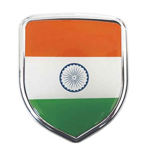 S2stm india flag 3d chrome sticker emblem badge logo for cars bikes