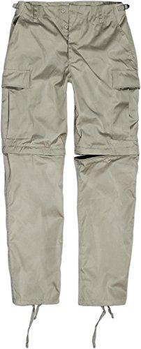 Zip Off BDU Feldhose mit per Reißverschluss abtrennbaren Hosenbeinen Farbe Khaki Größe L (Khaki Bdu)