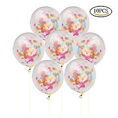 Idea Regalo - Ofoen coriandoli palloncini, 10pezzi 30,5cm trasparente Birthday wedding party Balloons Multi