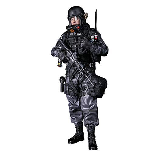 YxFlower Custom Figuren Militär Soldat Modell Modellbau, 30 cm 1/6 Actionfiguren Soldaten DIY Soldier Action Figure Spielzeug - Navy Commanding - Halo Soldaten Kostüm