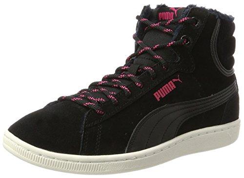 PUMA Damen Vikky Mid Corduroy Hohe Sneaker, Schwarz (Black-Black), 36 EU