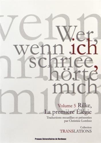 Rilke, la premire lgie