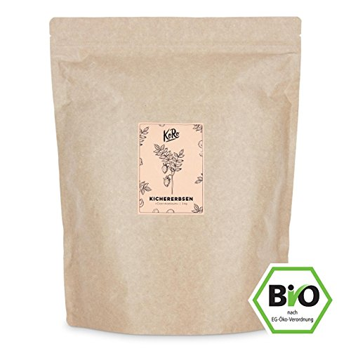 KoRo ● Bio Kichererbsen ● 3 kg ● Aus Kontrolliert Biologischem Anbau ● Hülsenfrüchte ● Vorteilspack ● Einfache Zubereitung ● Vegan Arabische Gerichte-set