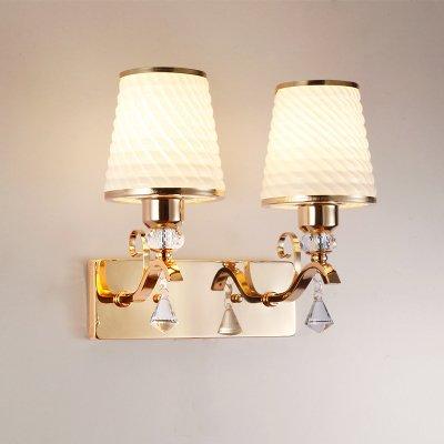 Kreative LED Nachttischlampe einfache, moderne Schlafzimmer Wohnzimmer Flur Wandleuchte Wandleuchte, Denim Lampe doppel Kopf