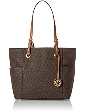 Michael Kors Jet Set Ew Signature Tote - Borse Donna, Marrone (Brown), 15x28x30 cm (W x H L)