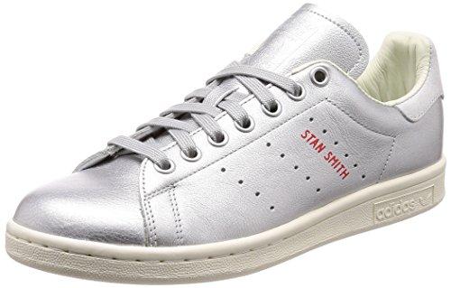 adidas Stan Smith W, Chaussures de Fitness Femme, Argenté Plamet/Tinazu 000, 42 EU